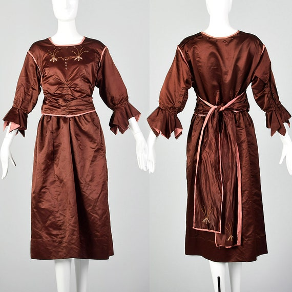 Large 1910s Dress Edwardian Silk Dress Belle Epoqu