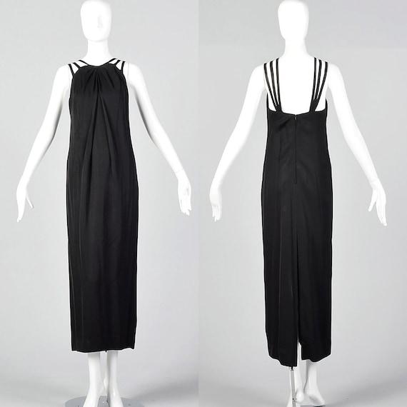 XXS 1960s Ceil Chapman Evening Dress Sleeveless Bl