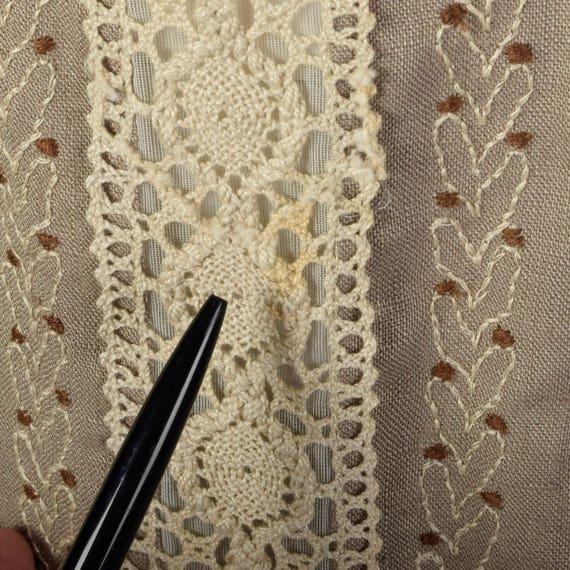 XS 1960s Moygashel Irish Linen Dress Sleeveless P… - image 7