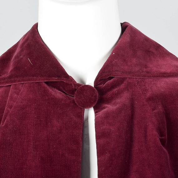 Mutton Coat Style X Small Vintage Sleeves Autumn Velvet Jacket 1940s Velvet Jacket Victorian Sleeves 1940s Coat Long Burgundy ABTYqTEw