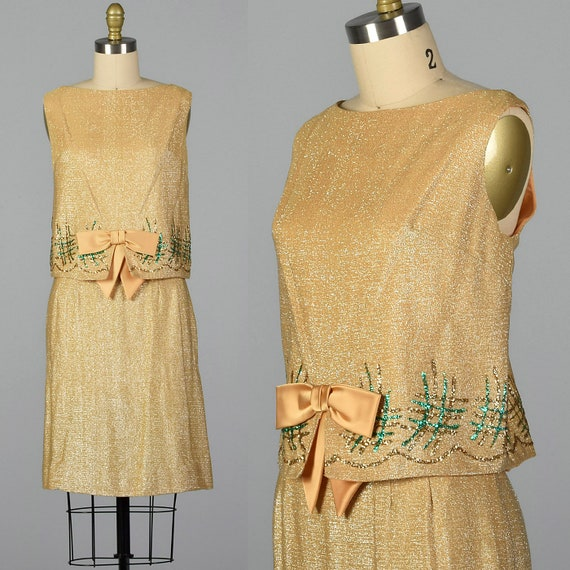 Set 1960s Top Outfit Gold Vintage Sleeveless Party 60s Skirt Set Cocktail Small Set Matching Skirt Lurex Separates Pencil wHqx1XXd