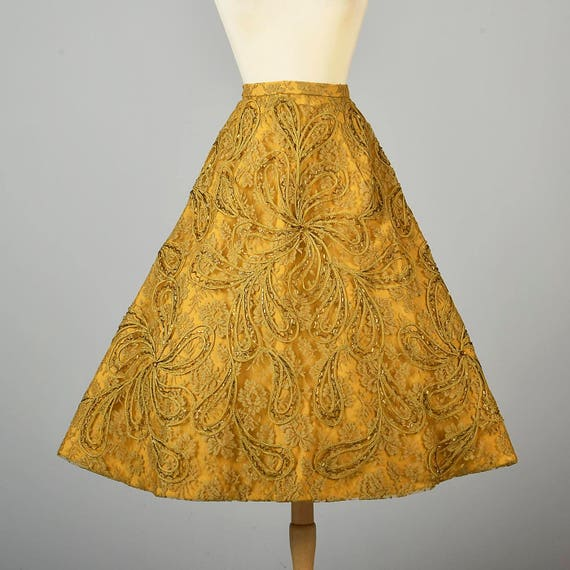 Wear Formal Century Applique Small Paisley Skirt Lace Vintage Evening Mid 50s Skirt Separates Deadstock 1950s Beaded vvqYw7E