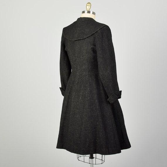 Large 1950s Coat Grey Princess Fit & Flare Wool S… - image 4