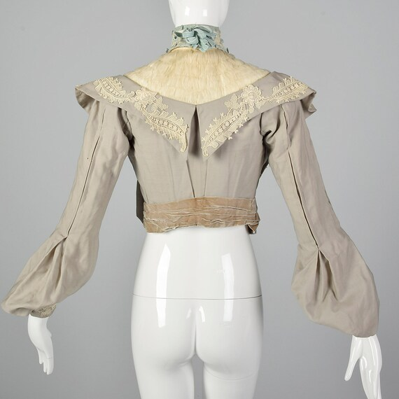 XXS 1890s Wool Challis Bodice Victorian Bodice wi… - image 3