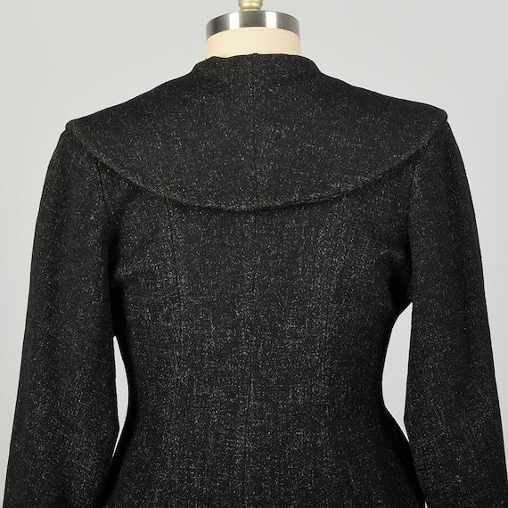 Large 1950s Coat Grey Princess Fit & Flare Wool S… - image 7