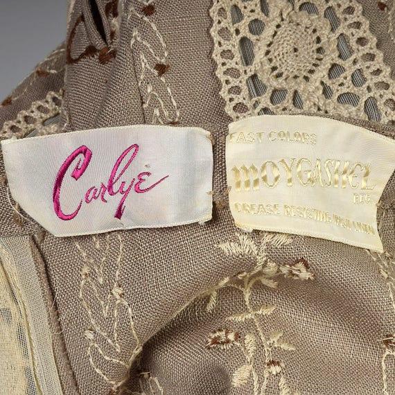 XS 1960s Moygashel Irish Linen Dress Sleeveless P… - image 10