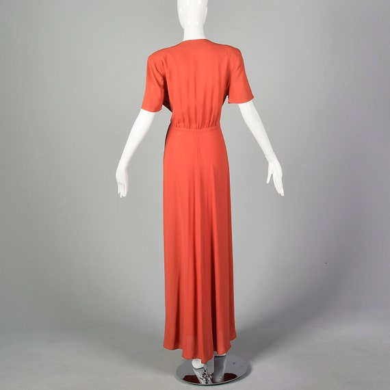 Small 1940s Rayon Dress in Pink Vintage Rayon Gow… - image 4