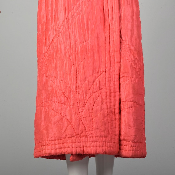 Medium 1930s Pink Robe Quilted Asian Inspired Sil… - image 6