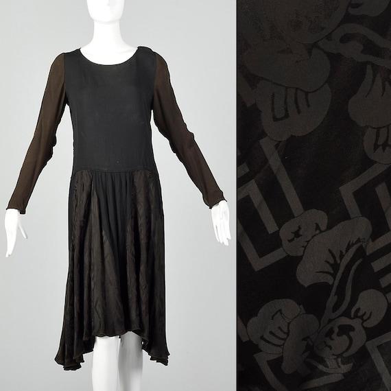 1920s XS Deco Day Dress Vintage 20s Drop Waist Dre