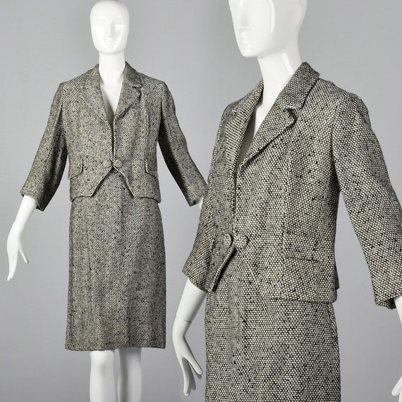 Small 1960s Suit Wool Tweed Skirt Suit Wool Separa