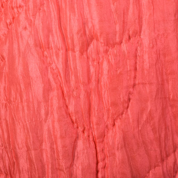 Medium 1930s Pink Robe Quilted Asian Inspired Sil… - image 7