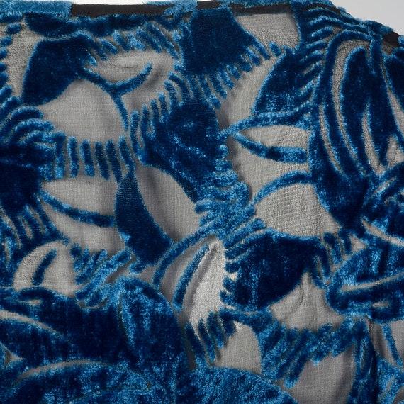 XL 1920s Silk Devore Blouse 20s Burnout Silk Larg… - image 9