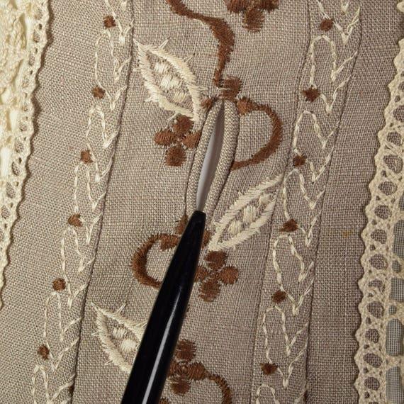 XS 1960s Moygashel Irish Linen Dress Sleeveless P… - image 9