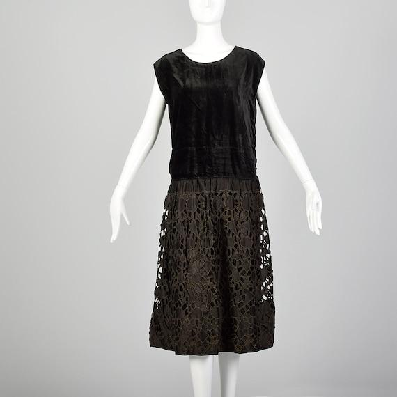 Medium 1920s Dress Little Black Dress 20s Drop Wai