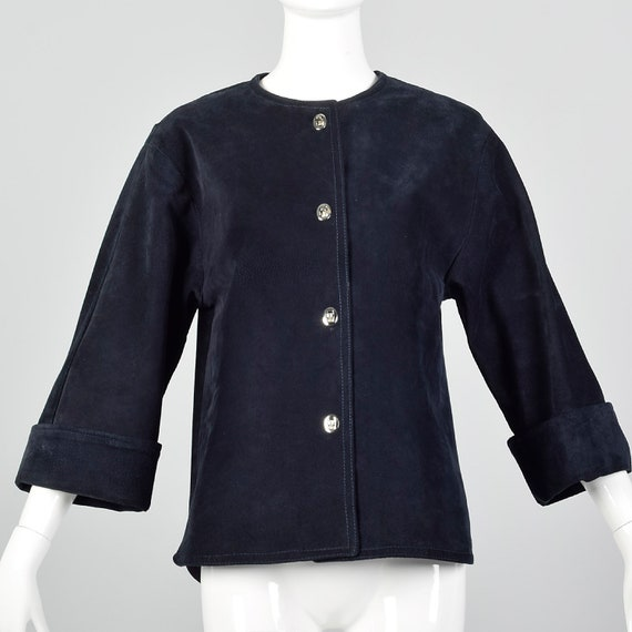 Small 1960s Suede Jacket with Turn Lock Closures M