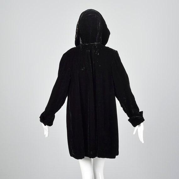 1940s Hooded Coat Loose Autumn Coat Sequin Hood B… - image 3