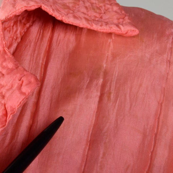 Medium 1930s Pink Robe Quilted Asian Inspired Sil… - image 10