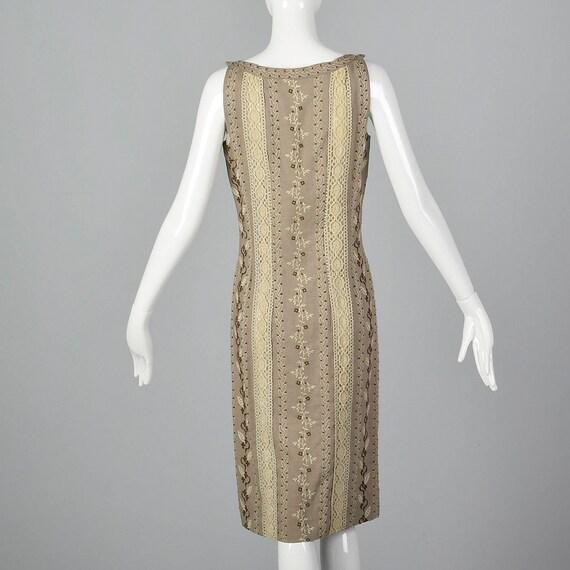XS 1960s Moygashel Irish Linen Dress Sleeveless P… - image 2