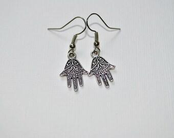 6679d6a7d Hamsa Hand Earrings, Meaning Earrings Boho Earrings, Silver Earrings, Boho,  Protection Earrings, Women's Earrings, Spiritual Earrings, Girls