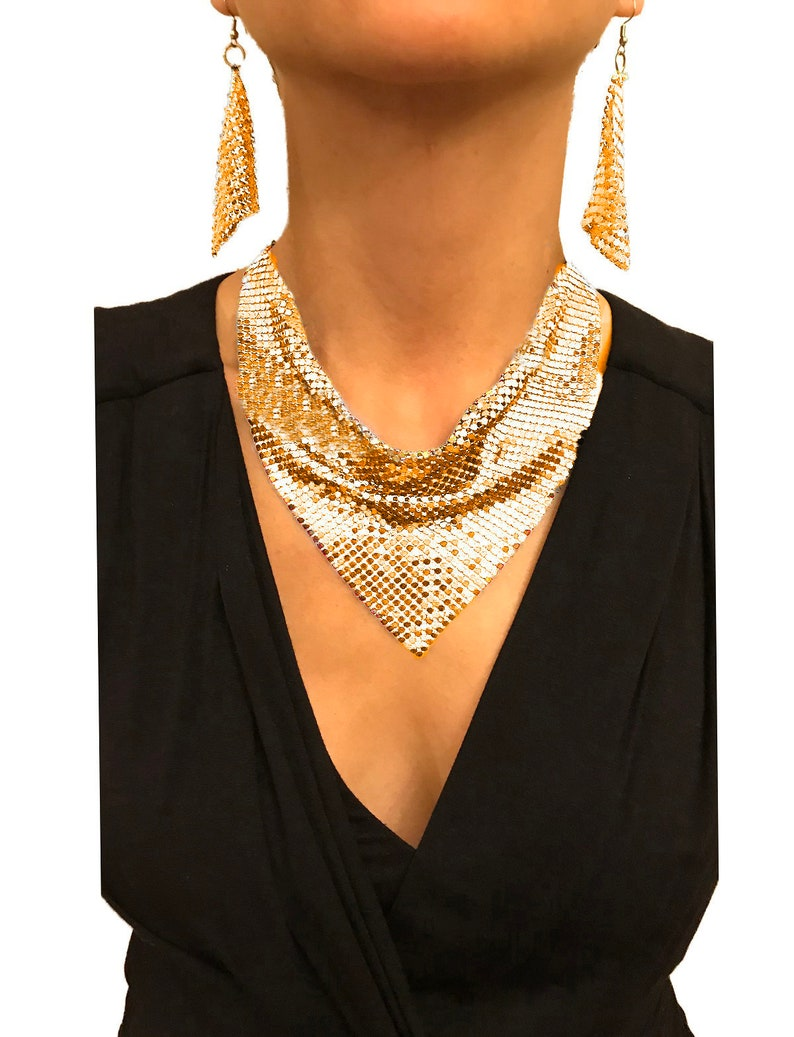 Nataliya Short Collar Necklace Vintage Statement Bib Collar
