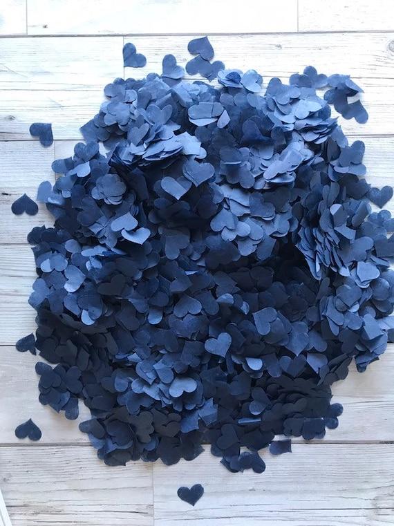 2000 Navy//Blue//White//Lilac and Purple  Tissue Hearts//Wedding Confetti//Decoration