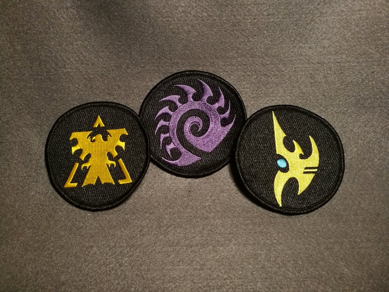 Starcraft embroidery patch - Terran/Zerg/Protoss