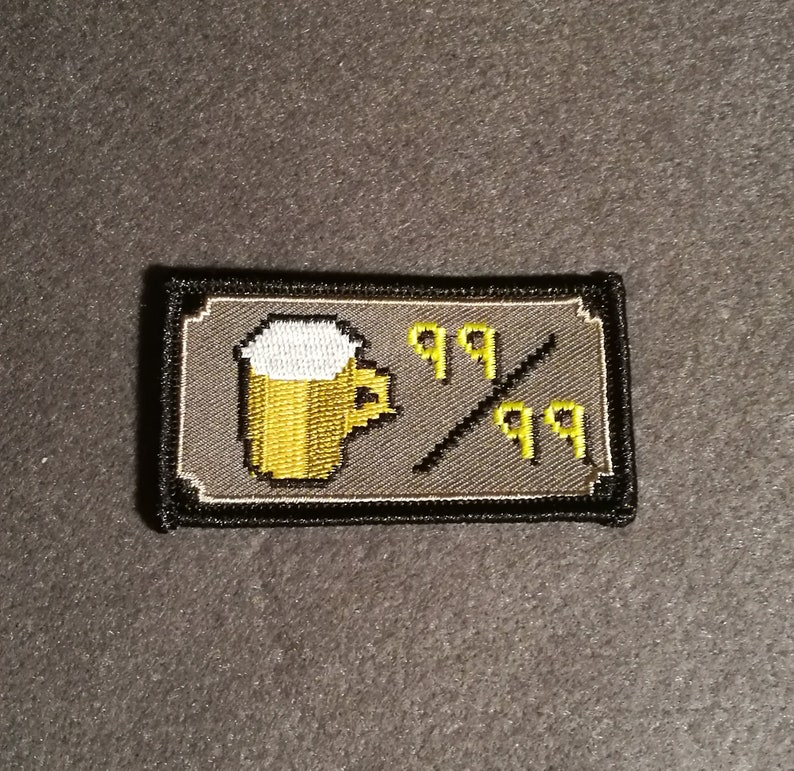 53804b00eed6b Beer Lvl 99 - Runescape - Embroidered patch