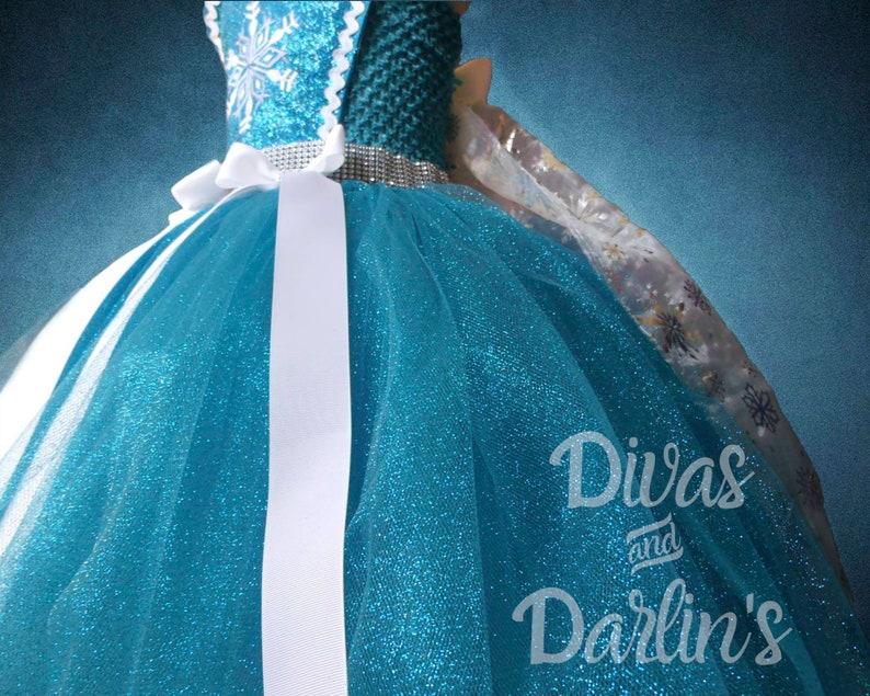 Little girl/'s Elsa inspired Frozen snowflake tutu dress Halloween or photo prop. costume for Birthday