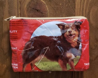 Upcycled Dog Food Bag Zippered Pouch