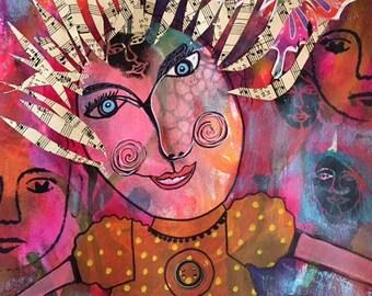 My Happy Place/Mixed media art
