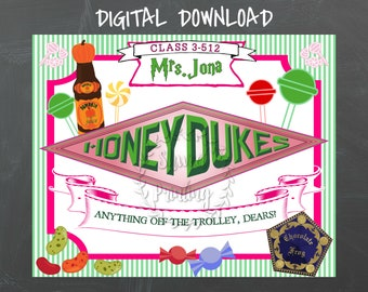 photo relating to Honeydukes Sign Printable named Honeydukes indicator Etsy