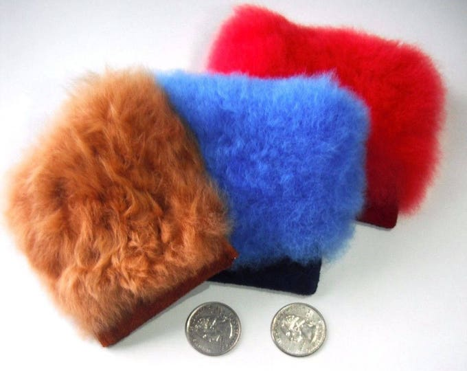 "3.8"" Baby Alpaca Fur Coin Purse - no kill fur alpaca, coin purse, fur bag, stash bag, money bag, conscious fur, ethically sourced"