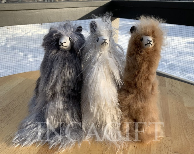11 IN Handmade Alpaca Stuffed Animal Plush Alpaca SURI Fur  /Llama  fur teddy alpaca handmade Peruvian alpaca fur animal toy
