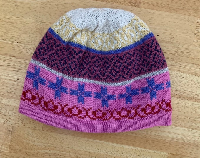 100% ALPACA - alpaca hat handmade in Peru - pink Fleece Lining  Alpaca hat for women Winter Hat hat -Peruvian Hat -Peruvian Products
