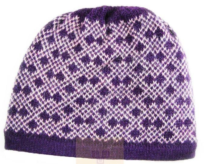 100% ALPACA - alpaca hat handmade in Peru -  Alpaca hat for women Winter Hat fancy hat -Peruvian Hat -Peruvian Products Design 1