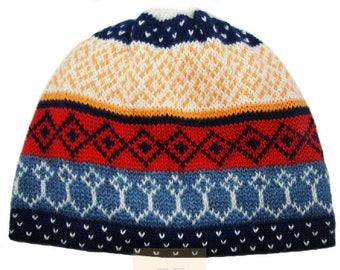 100% ALPACA - alpaca hat handmade in Peru - Fleece Lining  Alpaca hat for women Winter Hat fancy hat -Peruvian Hat -Peruvian Products  Navy