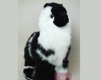 9IN  PREMIUM Handmade Alpaca Stuffed Animal Plush Alpaca  Fur/Llama fur teddy alpaca Standing handmade Peruvian alpaca fur animal toy