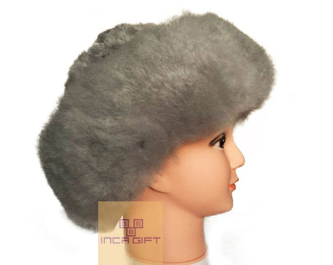 Baby Alpaca Fur / Fluffy Hat - Luxury Alpaca Fur Hat -Assorted Colors (23-24 inches around) -Special Gift - Luxury collection
