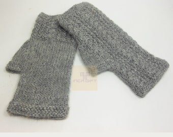 100% ALPACA - alpaca fingerless gloves handmade in Peru - Alpaca gloves for  women  Gloves fancy for texting  -Peruvian Products
