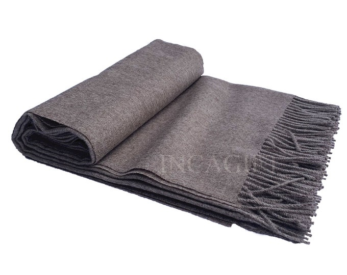 Sand 100% Baby Alpaca Throw Blanket - Woven blankets made in Peru
