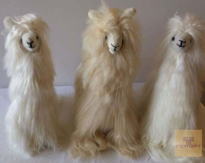 14IN 12 IN 11 IN Handmade Alpaca Stuffed Animal Plush Alpaca SURI Fur 13 In /Llama  fur teddy alpaca handmade Peruvian alpaca fur animal toy