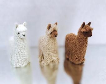 Needle Felted Alpaca suri Sculptures: Felted Animals by Hand in Alpaca Fiber made in peru 3.5 IN