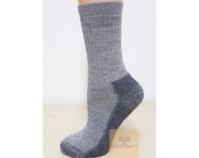 Wool Alpaca Unisex Socks - Anti bacterial -Anti inflammatory-  Diabetic Socks - FREE Shipping