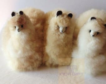 Handmade Alpaca Stuffed Animal Plush Alpaca 9 IN/ Llama fur teddy alpaca handmade Peruvian alpaca fur stuffed animal toy