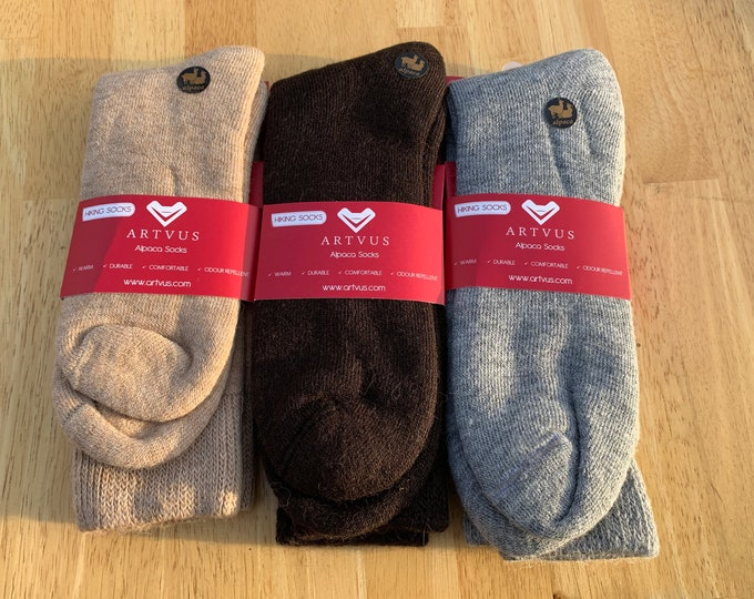 3 PACK Wool Alpaca Unisex Socks - Anti bacterial -Anti inflammatory-  Diabetic Socks - FREE Shipping