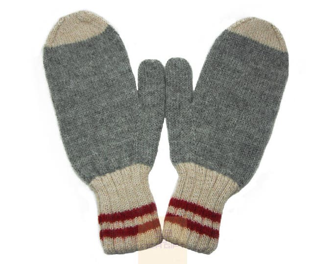100% ALPACA - Alpaca mittens handmade in Peru -for men women winter mittens fancy -Snow Mittens Peruvian Products Mix Color