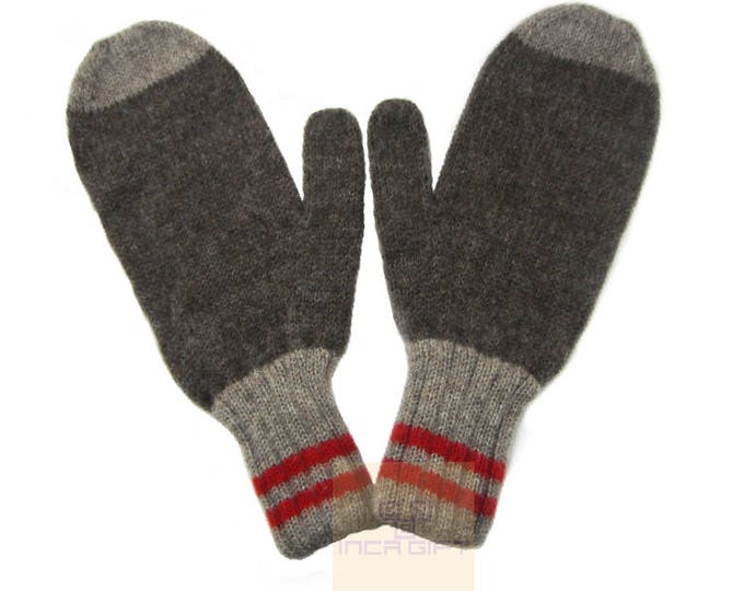 100% ALPACA - Alpaca mittens handmade in Peru -for men women winter face mittens fancy -Snow Mittens Peruvian Products Mix Color