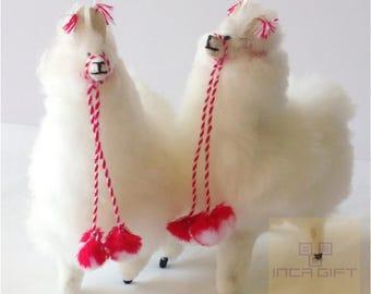 Mini Handmade Baby Alpaca Mini Stuffed Animal Plush Alpaca  7 -8   IN/ Llama  fur teddy alpaca Peruvian alpaca fur stuffed animal toy