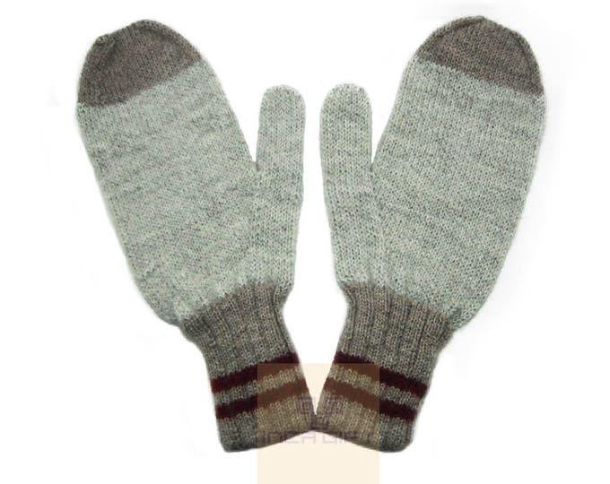 100% ALPACA - Alpaca mittens handmade in Peru -for men women winter mittens fancy -Snow Mittens Peruvian Products Mix Color