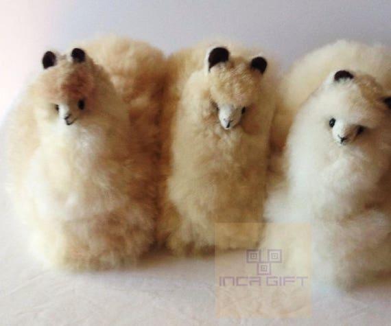 Handmade Alpaca Stuffed Animal Plush Alpaca 9 In Llama Fur Etsy